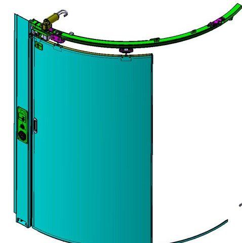 Türsysteme für Toilettenmodule