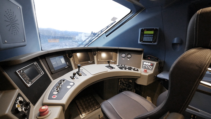 Drivers Desk and Cab